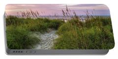Cherry Grove Beach Scene Portable Battery Charger