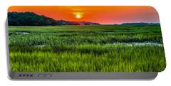 Cherry Grove Marsh Sunrise Portable Battery Charger