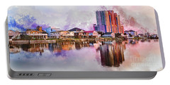 Cherry Grove Skyline - Digital Watercolor Portable Battery Charger