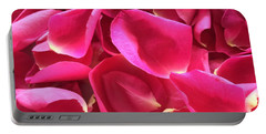 Cherry Pink Rose Petals Portable Battery Charger