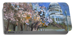 Cherry Tree Blossoms In Washington Dc Portable Battery Charger