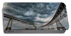 Chesapeake Bay Bridge Storm Portable Battery Charger