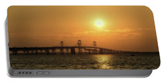 Chesapeake Bay Bridge Sunset I Portable Battery Charger