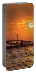 Chesapeake Bay Bridge Sunset II Portable Battery Charger