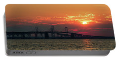 Chesapeake Bay Bridge Sunset 3 Portable Battery Charger