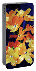 Portable Battery Charger featuring the painting Chesapeake Sunset by Rodney Campbell