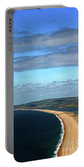 Portable Battery Charger featuring the photograph Chesil Beach by Baggieoldboy