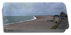 Chesil Beach November 2013 Portable Battery Charger by Anne Kotan