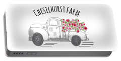 Portable Battery Charger featuring the drawing Chesilhurst Farm by Kim Kent
