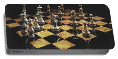Chess The Art Game Portable Battery Charger by Sheila Mcdonald