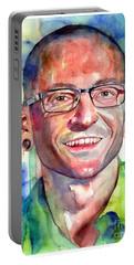 Chester Bennington Portrait Portable Battery Charger