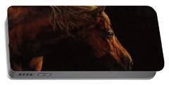 Chestnut Horse Portrait Portable Battery Charger