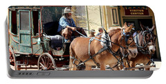 Chestnut Horses Pulling Carriage Portable Battery Charger