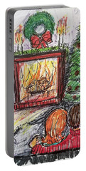 Chestnuts Roasting On An Open Fire Portable Battery Charger