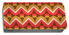 Chevron And Triangles Portable Battery Charger
