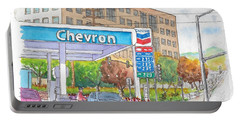 Chevron Gasoline Station In Olive And Buena Vista, Burbank, California Portable Battery Charger