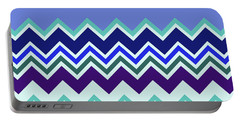 Chevron Lavender Turquoise Blue Purple Zigzag Pattern Portable Battery Charger