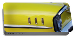 Chevy Bel Air Abstract In Yellow Portable Battery Charger