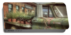 Portable Battery Charger featuring the photograph Chevy C 30 Pickup Truck - Colby Farm by Joann Vitali