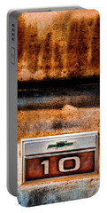 Chevy C10 Rusted Emblem Portable Battery Charger