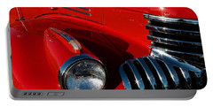 Chevy Red Portable Battery Charger by Linda Bianic