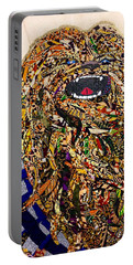 Portable Battery Charger featuring the tapestry - textile Chewbacca Star Wars Awakens Afrofuturist Collection by Apanaki Temitayo M
