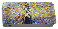 Portable Battery Charger featuring the painting Chi Of The Mighty Tree by Joanne Smoley