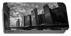 Chi Sunrise Black And White Portable Battery Charger