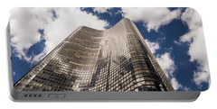 Portable Battery Charger featuring the photograph Chicago Building by Zawhaus Photography