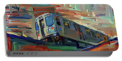 Chicago City Train Portable Battery Charger