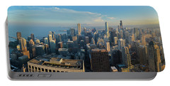 Chicago Cityscape Panorama Portable Battery Charger