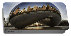 Chicago Cloud Gate At Sunrise Portable Battery Charger