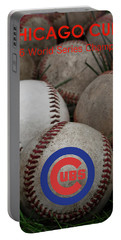 Chicago Cubs World Series Poster Portable Battery Charger
