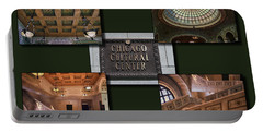 Chicago Cultural Center Collage Portable Battery Charger