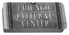 Chicago Cultural Center Plaque Portable Battery Charger