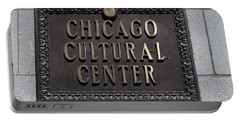 Chicago Cultural Center Signage Portable Battery Charger