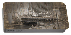 Chicago Dusable Bridge Street Scene Portable Battery Charger