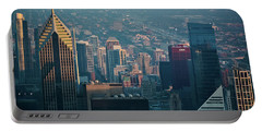 Chicago Evening Skyline Portable Battery Charger