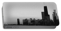Chicago Evening Skyline Panorama Portable Battery Charger