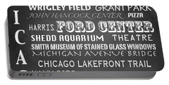 Chicago Famous Landmarks Portable Battery Charger