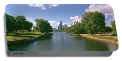 Chicago From Lincoln Park, Illinois Portable Battery Charger by Panoramic Images