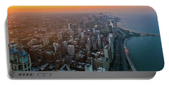 Chicago Gold Coast Sunset Portable Battery Charger