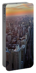 Chicago Gold Coast Sunset Portrait Portable Battery Charger