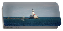 Portable Battery Charger featuring the photograph Chicago Harbor Lighthouse by John Black