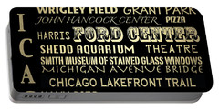 Chicago Illinois Famous Landmarks Portable Battery Charger