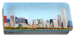 Chicago Illinois Skyline Painterly 20180516 Portable Battery Charger