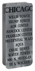 Chicago Illinois Skyscrapers Portable Battery Charger
