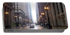 Chicago In The Rain Portable Battery Charger