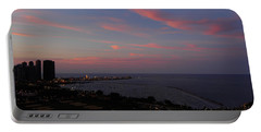 Chicago Lakefront At Sunset Portable Battery Charger