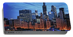 Chicago At Night Portable Battery Charger